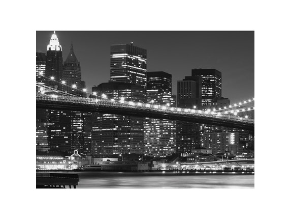 glasbild new york skyline 125x50cm eurographics. Black Bedroom Furniture Sets. Home Design Ideas
