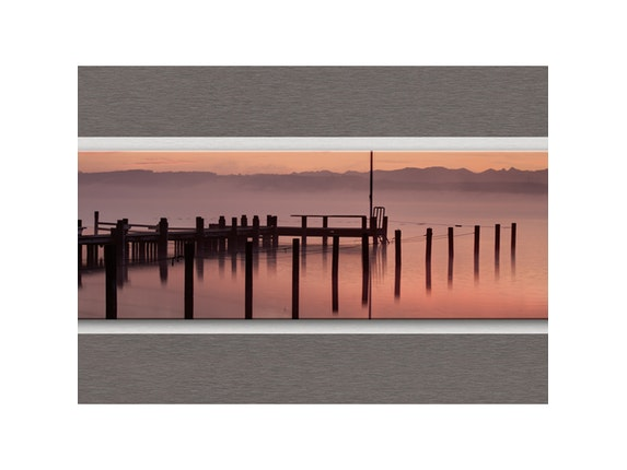 Eurographics Glasbild Soft Red Morning 125x50cm n-7547 - 2