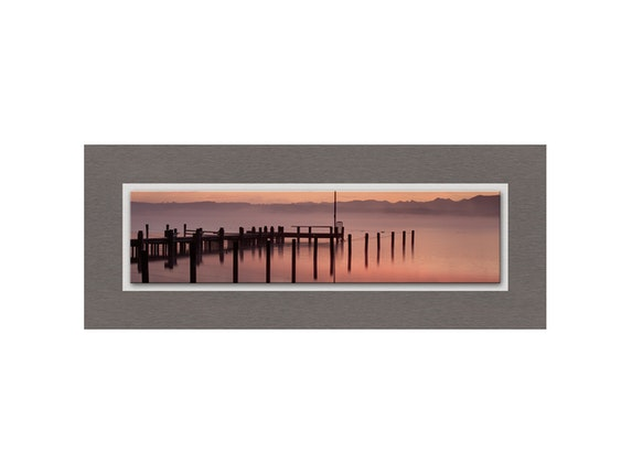 Eurographics Glasbild Soft Red Morning 125x50cm n-7547 - 1