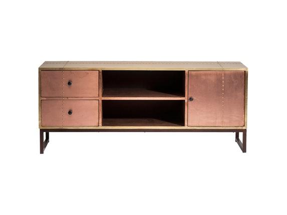 tv board rivet copper kare design. Black Bedroom Furniture Sets. Home Design Ideas