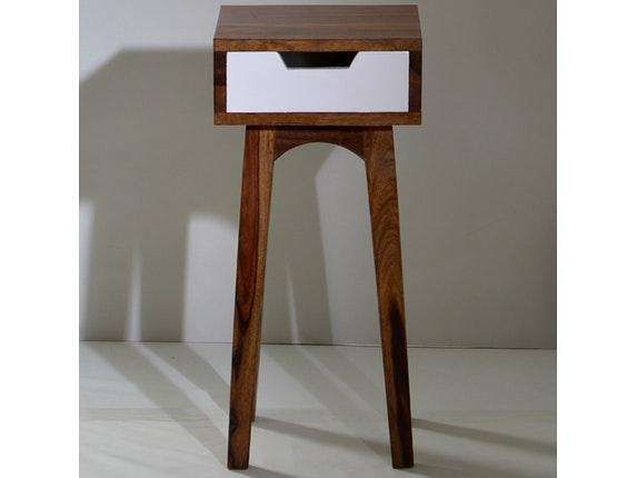 beistelltisch sixties mit schublade 80 cm sit m bel. Black Bedroom Furniture Sets. Home Design Ideas