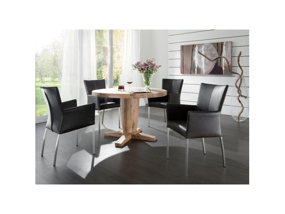 esstisch milano rund eiche ge lt 120 cm sit m bel. Black Bedroom Furniture Sets. Home Design Ideas