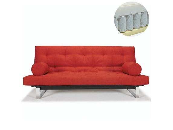 schlafsofa minimum mit chromkufen soft spring matratze. Black Bedroom Furniture Sets. Home Design Ideas