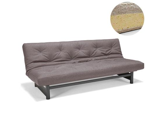 schlafsofa fuji 140 mit schwarzen beinen classic round matratze innovation. Black Bedroom Furniture Sets. Home Design Ideas