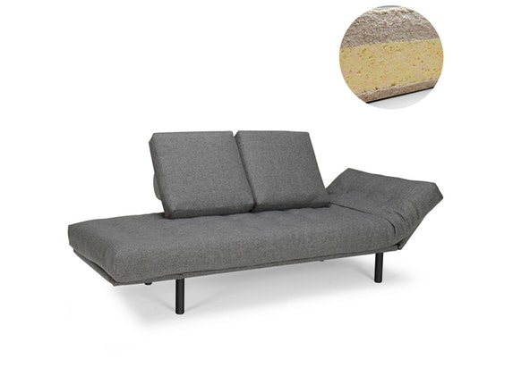 schlafsofa rollo rind mit kissen classic round matratze innovation. Black Bedroom Furniture Sets. Home Design Ideas