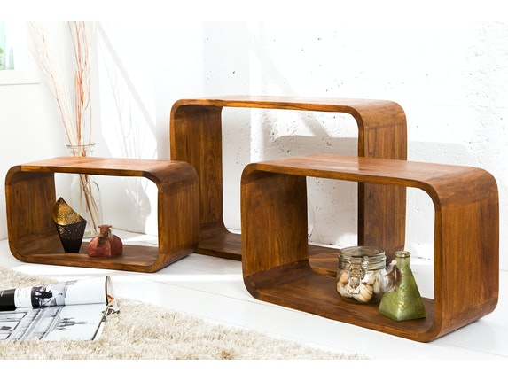 Interior Home Regal Wood 3er Set Akazie n-9054 - 2