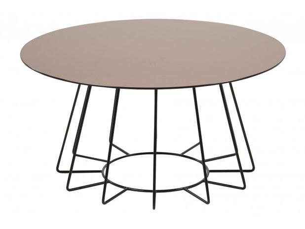 Couchtisch Cosio Mit Glasplatte Tischplatte Bronzefarbig Gestell