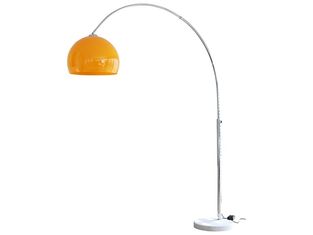 Bogenlampe orange Big Deal mit Marmorfuß 1446 von SalesFever®