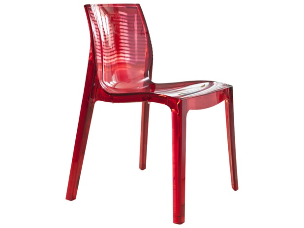 Designer Transparent Aus Rot Sari Salesfever Stuhl Kunststoff b76yvIYgfm