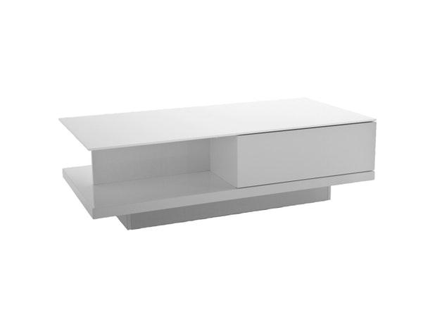 Couchtisch Clara Mit Schublade Weiß 120x60 Cm Synoun Salesfeverde
