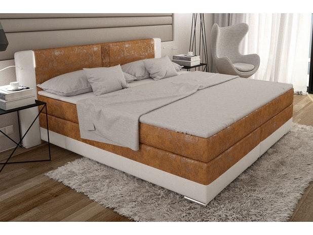 boxspringbett laxane mit led beleuchtung blau 180x200 innocent. Black Bedroom Furniture Sets. Home Design Ideas
