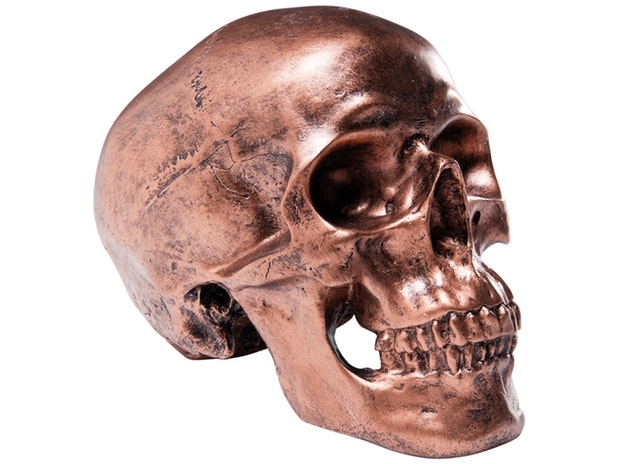 Spardose Copper Antique Skull n-7233-4831 von KARE Design®