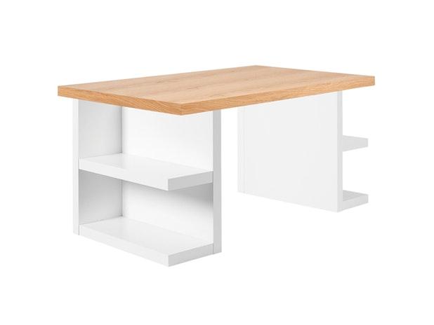 schreibtisch prado mit schublade wei chrom temahome. Black Bedroom Furniture Sets. Home Design Ideas