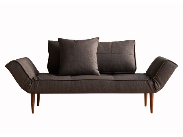 Schlafsofa 216 Flashtex dunkelgrau Zeal Styletto Dark n-8473-6018 von Innovation