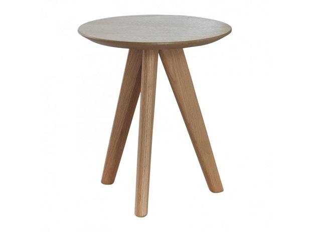 Beistelltisch Fabian Massivholz Rund 30 Cm Msp Furniture