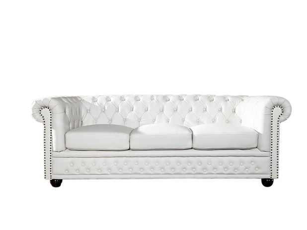 Sofa 3er weiß matt Highline n-9801/7513 von Interior Home