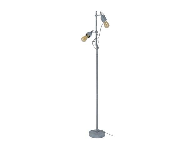 Stehlampe Beton Optik Mit 2 Leuchten Drehbar Tonio