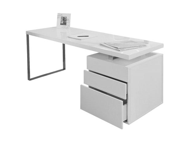Schreibtisch White Line Mit Container 160 X 70 Cm Salesfever