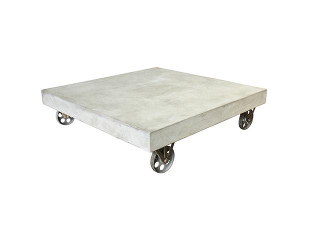 Couchtisch Cement Mit Metall Rollen 80x80 Cm Sit Möbel Salesfeverde