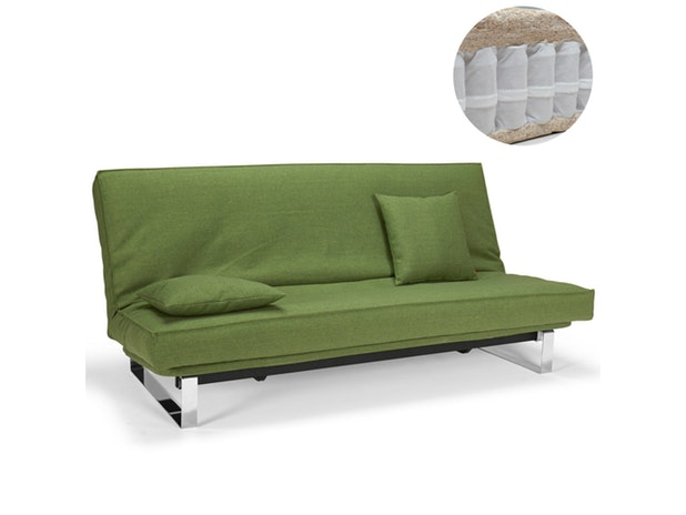 Schlafsofa Minimum mit Chromkufen Spring Sharp Cover n-8558 von Innovation