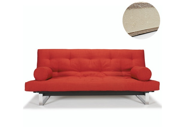 Schlafsofa Minimum mit Chromkufen Latex Round Matratze n-8562 von Innovation