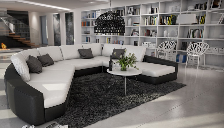 Wohnlandschaft oval  Wohnzimmermöbel online kaufen » SalesFever.de