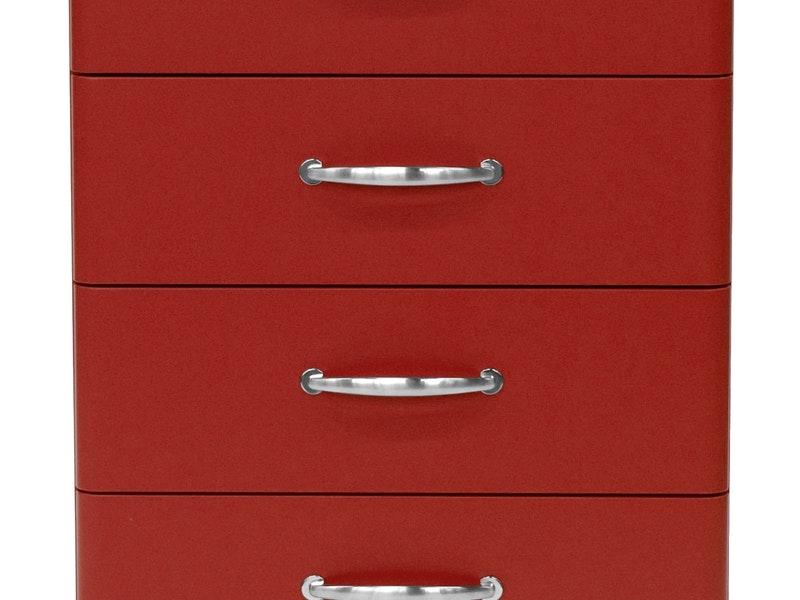 Kommode Malibu 60 Mit 4 Schubladen Rot Msp Furniture Salesfever De