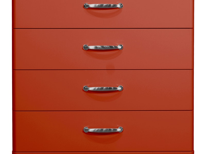 Kommode Malibu 86 Mit 4 Schubladen Rot Msp Furniture Salesfever De
