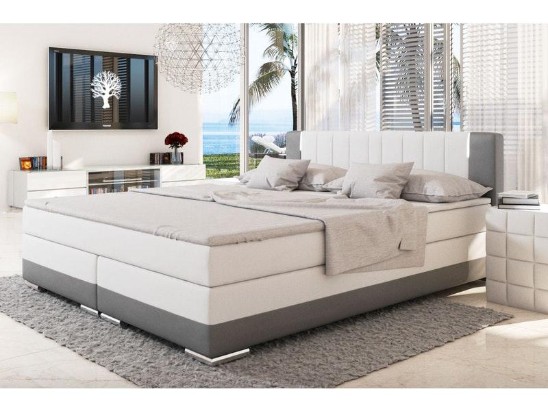 Innocent® Boxspringbett 200x200 cm weiß grau Hotelbett LED SUNG