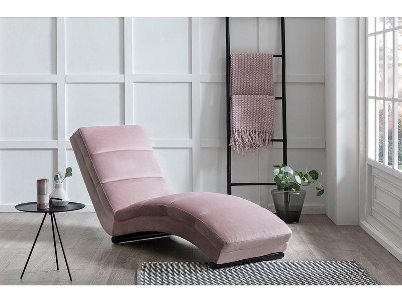 SalesFever® Designer Relaxliege rose aus Samt Sento
