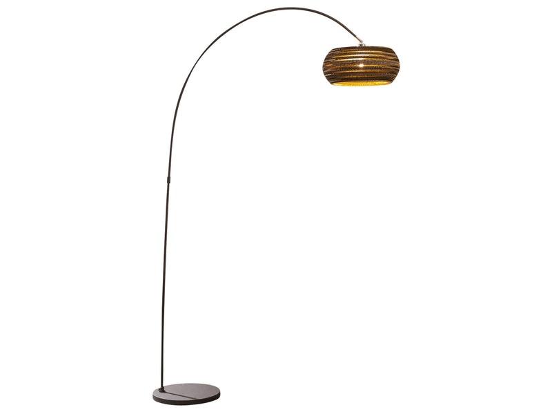 SalesFever® Stehlampe braun Lupina