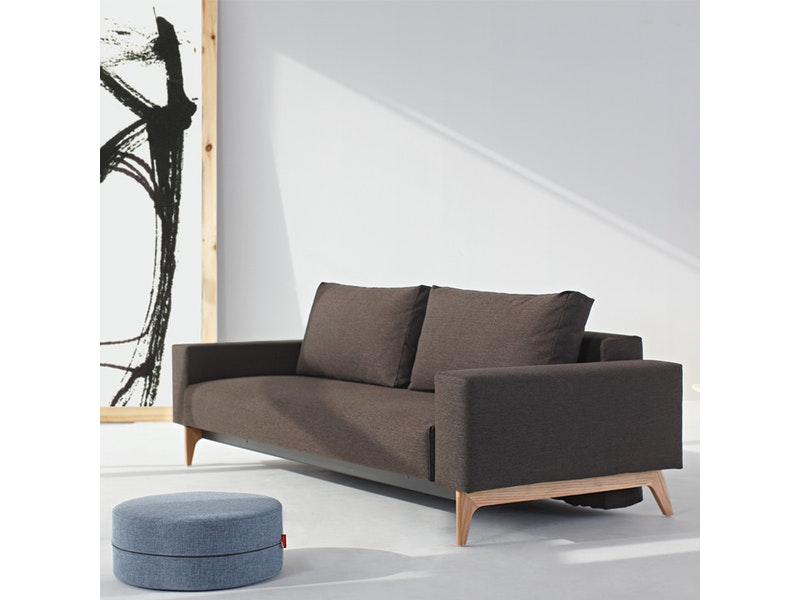 Innovation Schlafsofa 523 Mixed Dance Braun