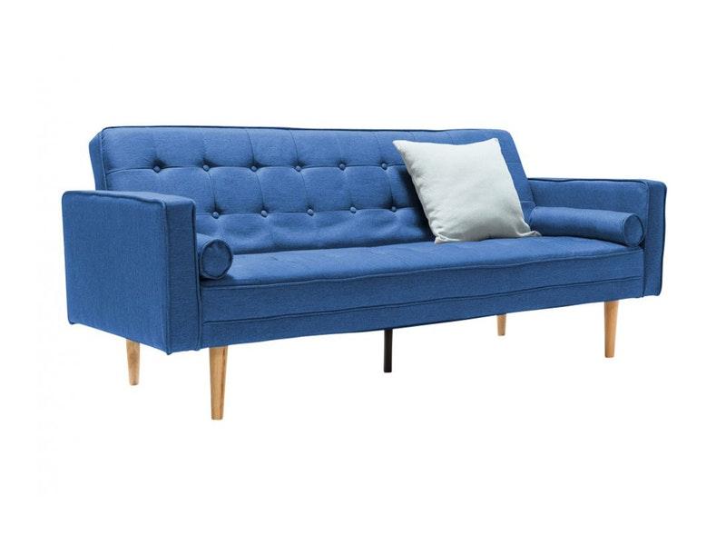 SalesFever® Schlafsofa Schlafcouch Stoff blau Schlafunktion 205 cm SOHO