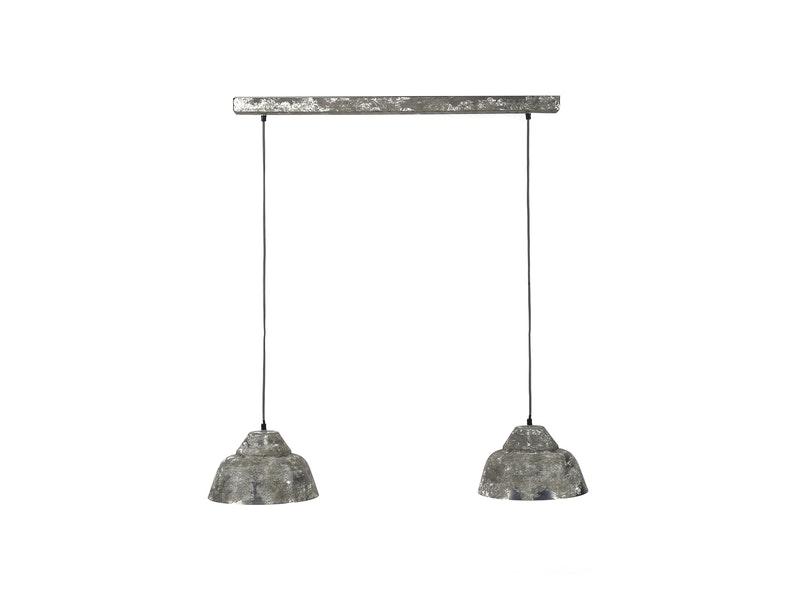 SalesFever® Hängelampe mit 2 Lampenschirmen 30 cm Juan
