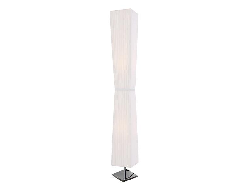 SalesFever® Stehlampe Stehleuchte 120 cm eckig weiß ADAM