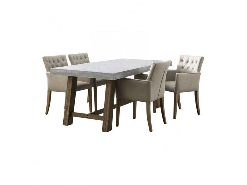 msp furniture Esstisch Tim 200x100 cm Holzgestell