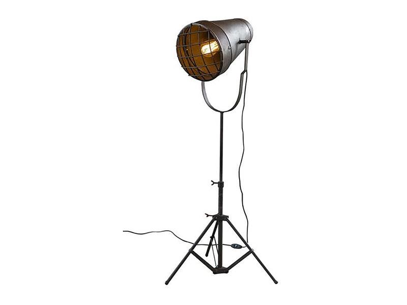 msp furniture Stehlampe Elias Industrial Stativ Gitter