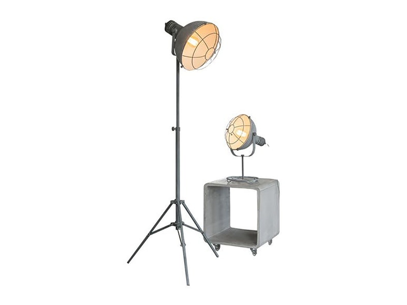 msp furniture Stehlampe Lex hoch mit Dreibein-Stativ Gitter