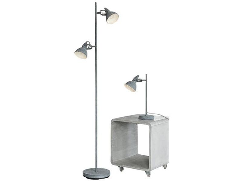 msp furniture Stehlampe Oreo 2 Lampenschirme Beton-Optik