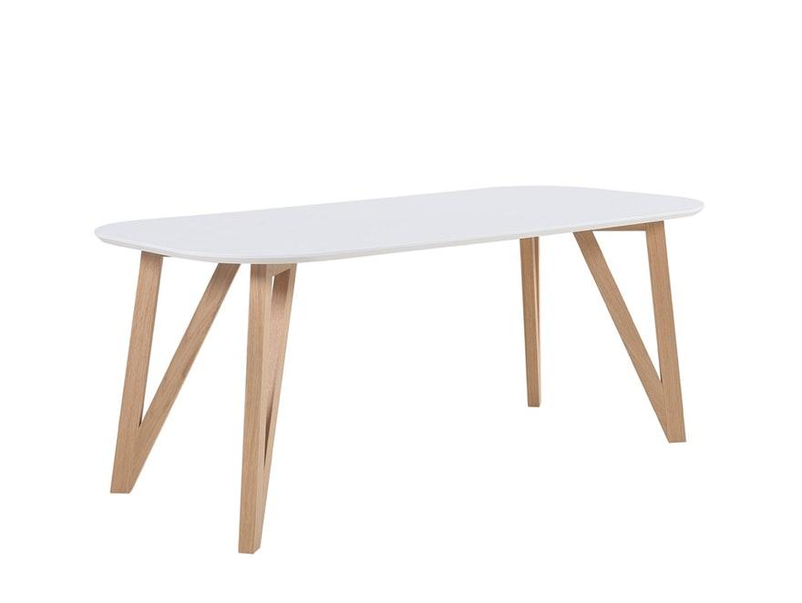 Esstisch weiß Esszimmertisch Holz Tisch Beine >> SalesFever.de