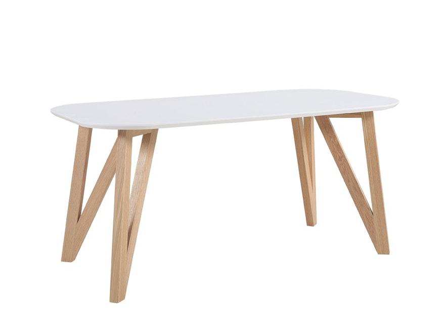 SalesFever Esstisch 180x90 Cm Aino Weiß Holz Stabile Beine Tisch  0n 10072 7669