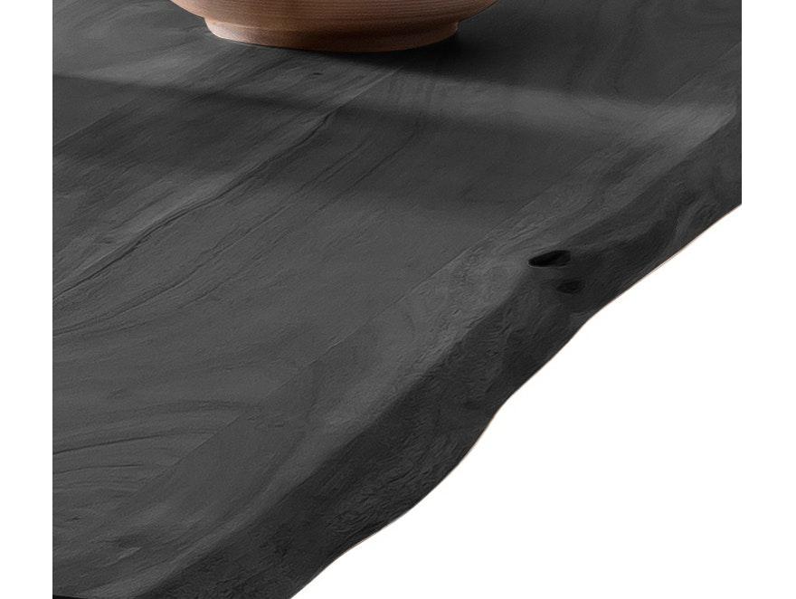 SalesFever Esstisch 180 X 90 Cm Massivholz Baumkante Akazie Grau 36 Mm  Stärke Tischbeine Silber Mason