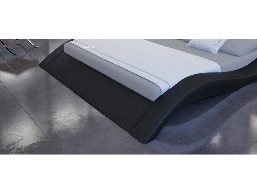 Innocent® Polsterbett 180x200 cm schwarz Doppelbett LED LOOK 7658 - 5