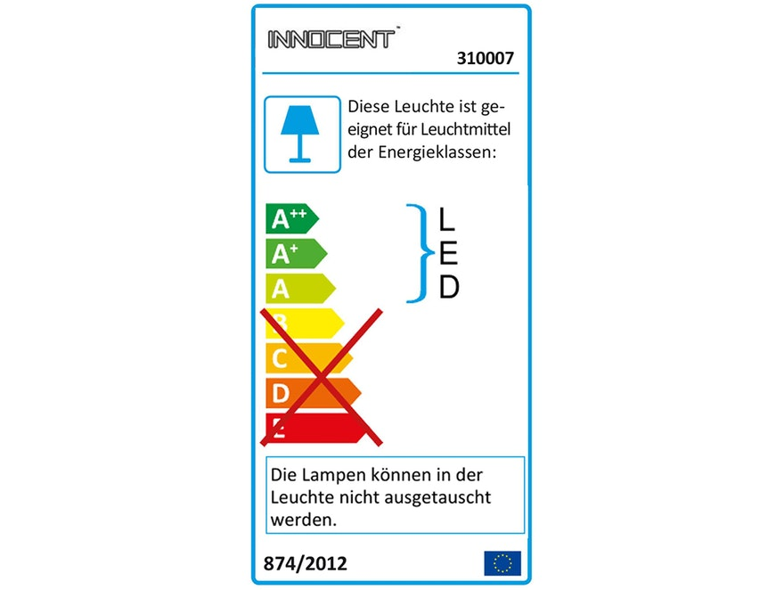 Innocent® Polsterbett 180x200 cm schwarz Doppelbett LED LOOK 7658 - 6