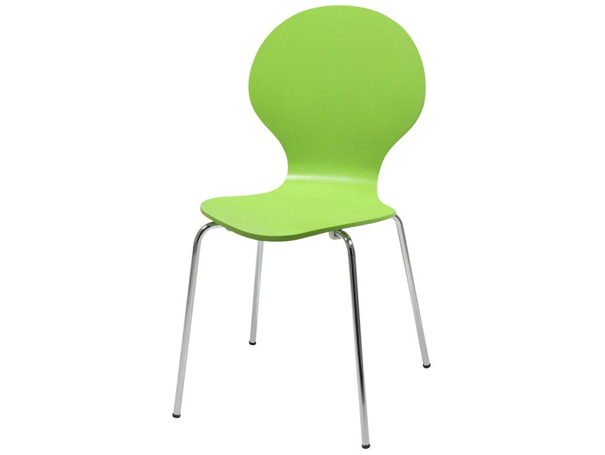 Stuhl Klassiker im 4er Set stapelbar grün Synoun