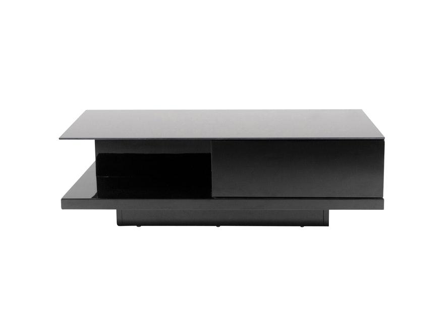 couchtisch clara mit schublade schwarz 120x60 cm synoun. Black Bedroom Furniture Sets. Home Design Ideas