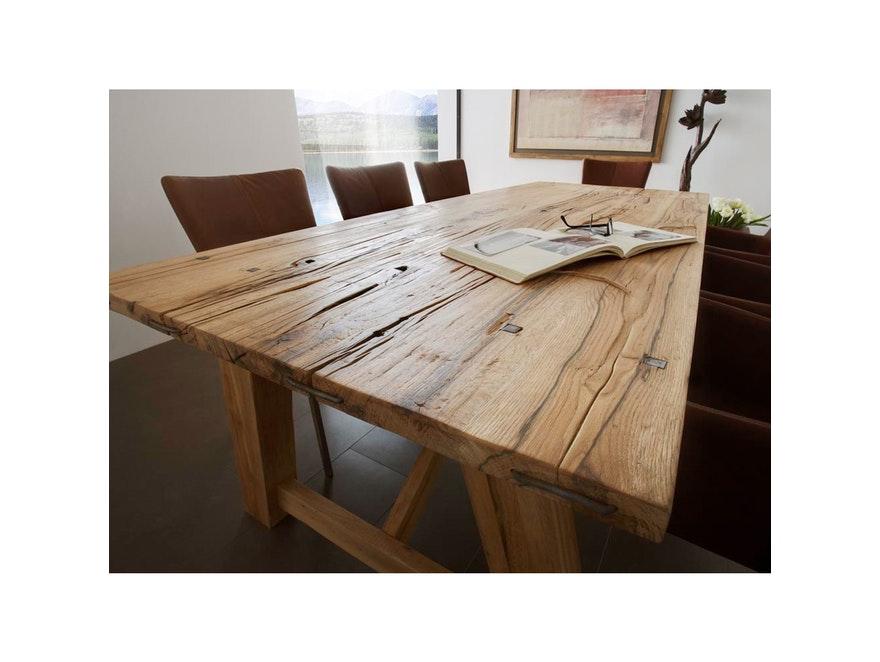 massivholz esstisch wiking gestell a form eiche ge lt 180x110cm sit m bel. Black Bedroom Furniture Sets. Home Design Ideas