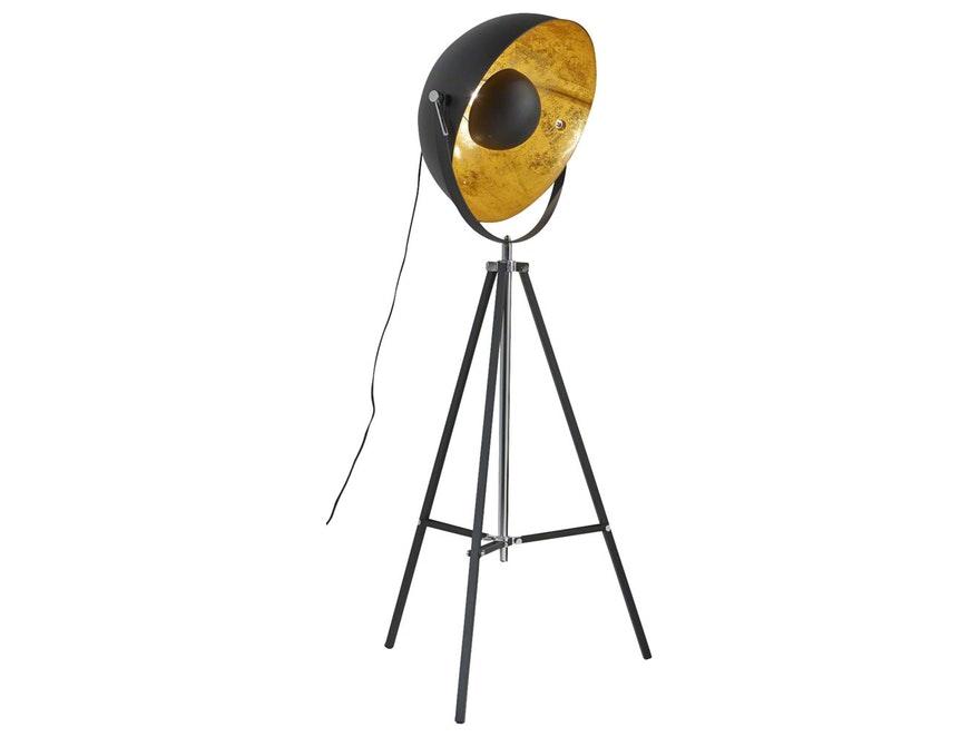 Stehleuchte Aspectu mit 1 Lampe schwarz/gold » SalesFever ...
