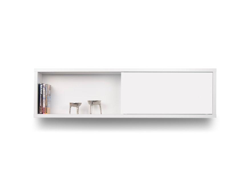h ngeschrank nilo schiebet r und regalbrett wei temahome. Black Bedroom Furniture Sets. Home Design Ideas