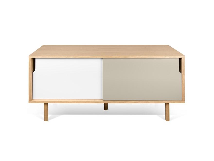 sideboard dann 135 mit holzf en eiche wei grau temahome. Black Bedroom Furniture Sets. Home Design Ideas